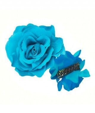 Rosa Flamenca Pinza Azul