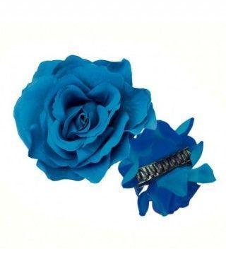 Rosa Flamenca Pinza Azul Oscuro