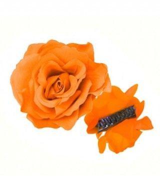 Rosa Flamenca Pinza Naranja
