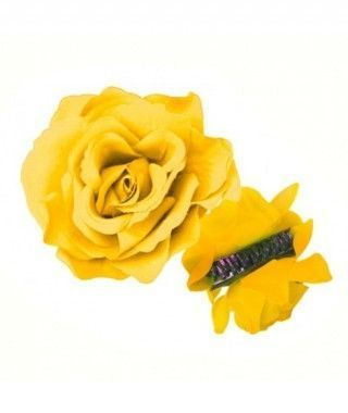 Rosa Flamenca Pinza Amarilla