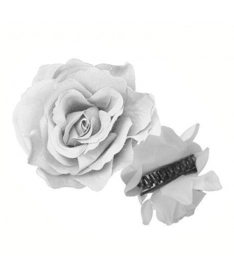 Rosa Flamenca Pinza Blanca