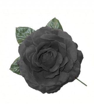 Rosa Negra Tela con Vara