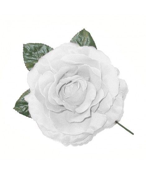 Rosa Blanca Tela con Vara