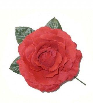 Rosa Roja Tela con Vara