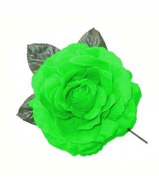 Rosa Verde Tela con Vara