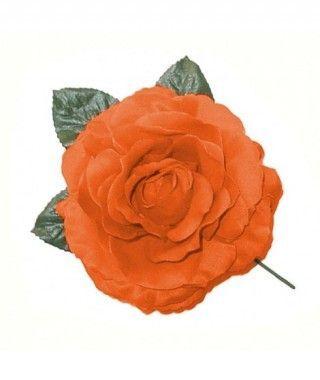 Rosa Naranja Tela con Vara