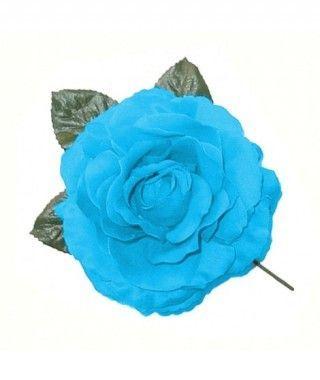 Rosa Azul Tela con Vara