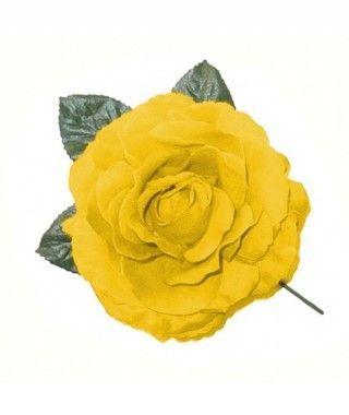 Rosa Amarilla Tela con Vara