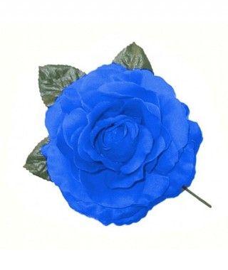 Rosa Azul Oscuro Tela con Vara