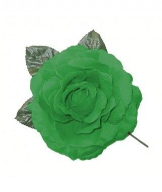 Rosa Verde Oscuro Tela con Vara