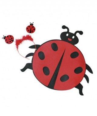 Conjunto de Disfraz de Mariquita Ladybug (2 piezas) Caparazón y Diadema
