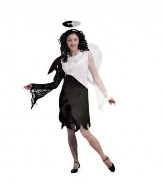 Disfraz Ángel blanco y negro mujer Halloween