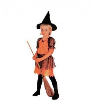 Disfraz Brujita naranja niña infantil Halloween