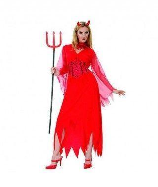 Disfraz Demonia Roja mujer adulto Halloween