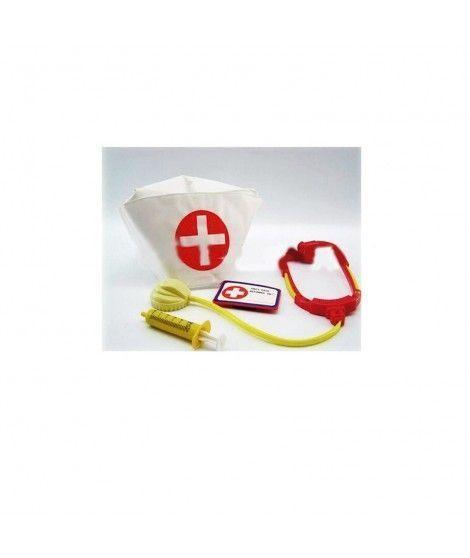 Conjunto de Disfraz de Enfermera cofia jeringa estetoscopio