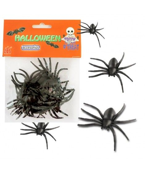 Tarántulas Decoración Halloween (12 uds)