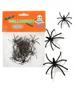 Arañas Decoración Halloween (24 uds)