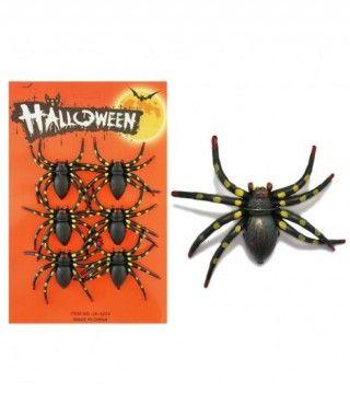Arañas Decoración Halloween (6 uds)