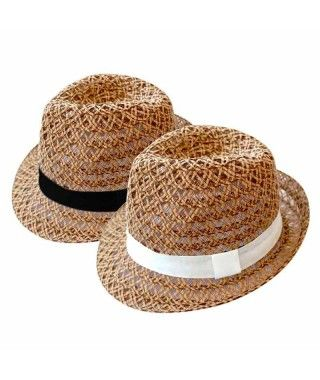 Sombrero Fedora Entretejido Accesorio Carnaval