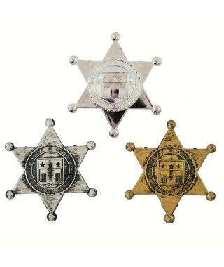 Estrellas de Sheriff Accesorio Carnaval (6 uds)