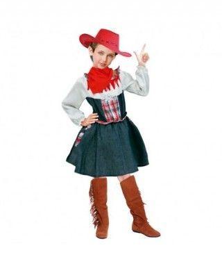 Disfraz Vaquera Sheriff niña infantil Carnaval
