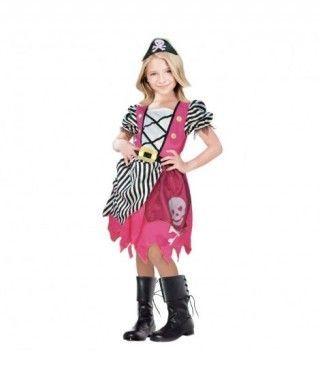 Disfraz Pirata Rosa niña infantil Carnaval