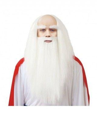 Peluca y barba de Druida Accesorio Carnaval
