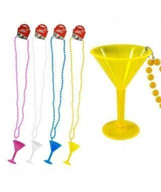 Collar Abalorios Copa Accesorio Fiesta (pack 4 uds)