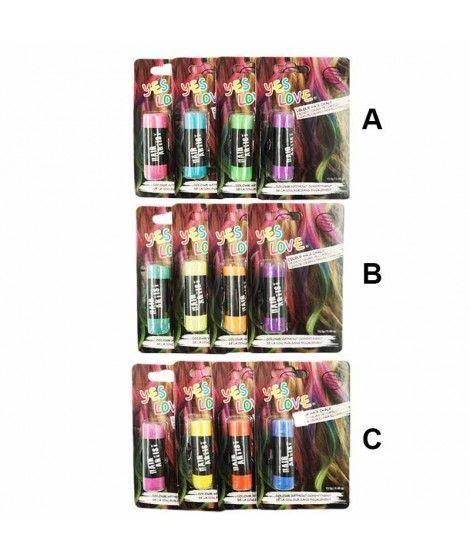Tiza para el pelo (Pack 4 uds) Maquillaje Carnaval