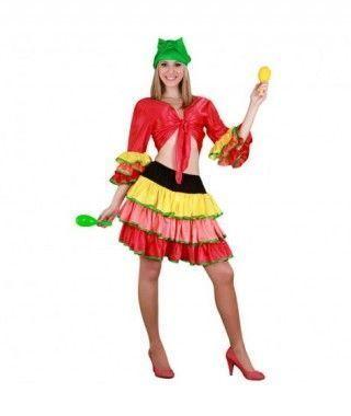 Disfraz Rumbera Mujer adulto Carnaval