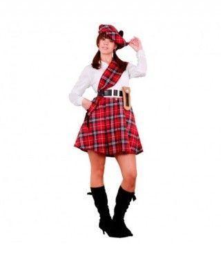 Disfraz Escocesa mujer adulto Carnaval