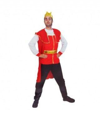 Disfraz Rey Rojo hombre adulto Carnaval
