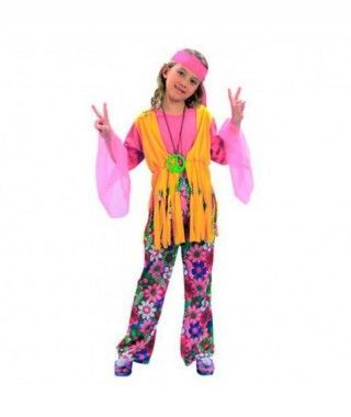 Disfraz Hippie niña infantil Carnaval