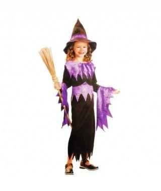 Disfraz Bruja Violet niña infantil Halloween