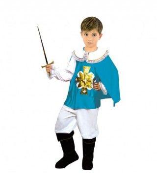 Disfraz Mosquetero azul niño infantil Carnaval