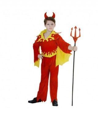 Disfraz Diablo llamas amarillas niño infantil Halloween