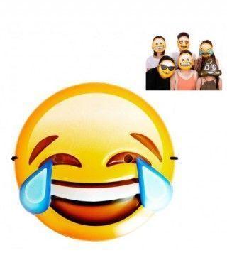 Máscara Emoji Risa lágrimas Accesorio Carnaval