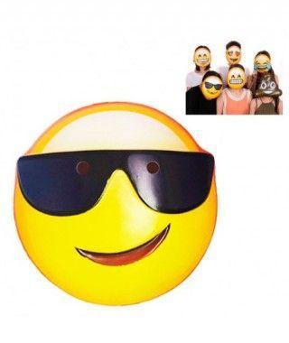 Máscara Emoji Gafas Accesorio Carnaval