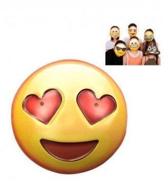 Máscara Emoji Enamorado Accesorio Carnaval