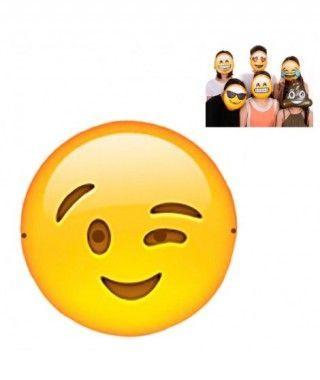 Máscara Emoji Guiño Accesorio Carnaval