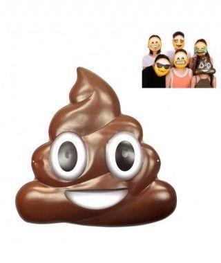 Máscara Emoji Caca Accesorio Carnaval