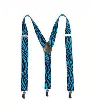 Tirantes Cebra Azules Accesorio Fiesta