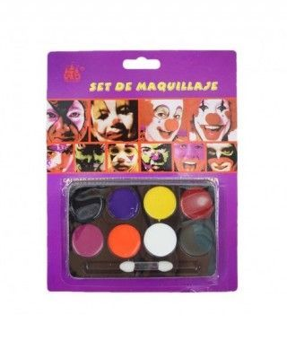 Paleta Maquillaje 8 colores Maquillaje Carnaval