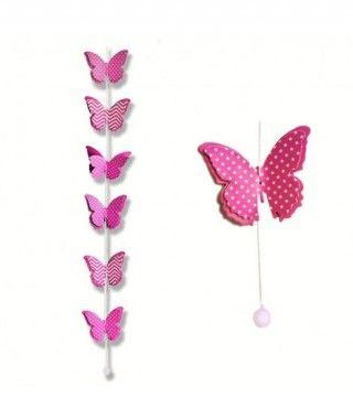 Colgante Mariposas Fucsias Decoración Fiesta