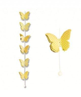 Colgante Mariposas Amarillas Decoración Fiesta