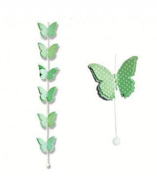 Colgante Mariposas Verdes...