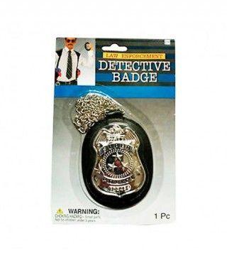 Placa de Policía Detective Accesorio