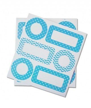 Etiquetas Adhesivas Azules Regalos Fiesta