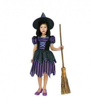 Disfraz Bruja Violeta niña infantil de Halloween