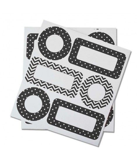 Etiquetas Adhesivas Negras Regalos...